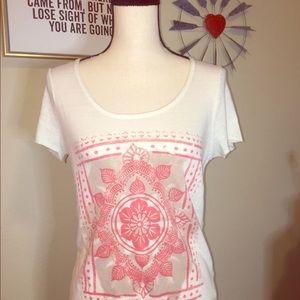 Lucky Brand Flower T Shirt